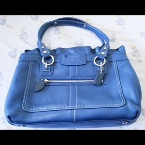 Coach Penelope Navy Blue Large Tote Gently Used